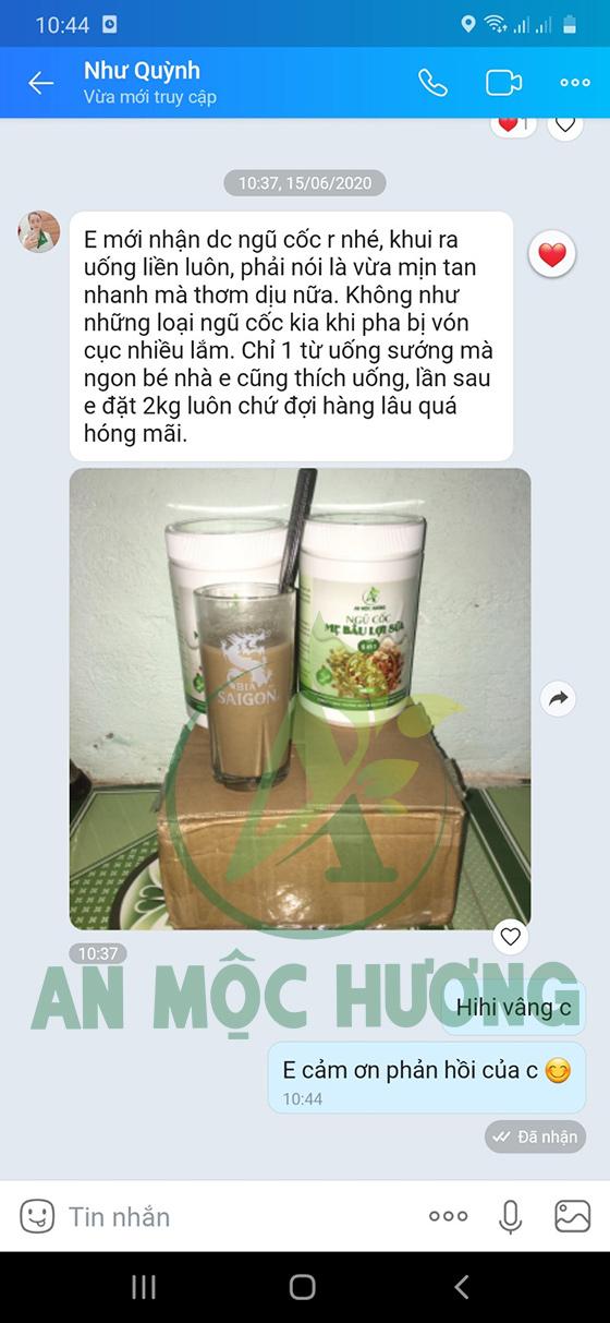 Feedback của khách hàng khi sử dụng ngũ cốc An Mộc Hương