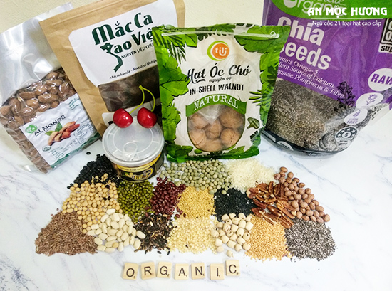 nguyên liệu làm bột ngũ cốc dinh dưỡng An Mộc Hương