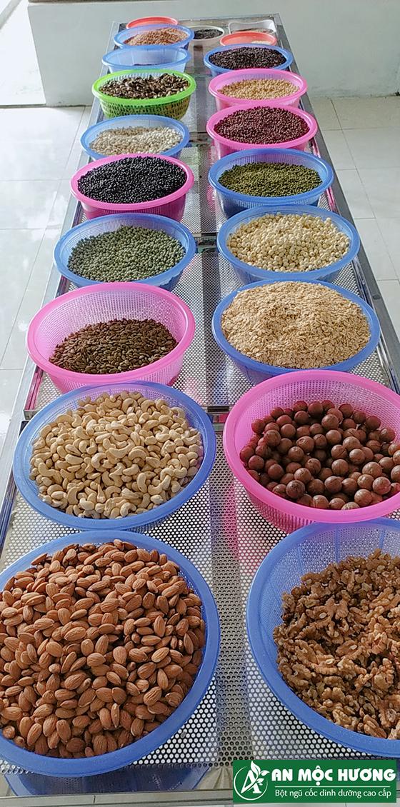 21 loại hạt nguyên liệu làm ngũ cốc An Mộc Hương