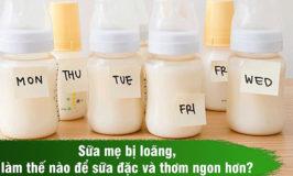 sữa mẹ trong và loãng