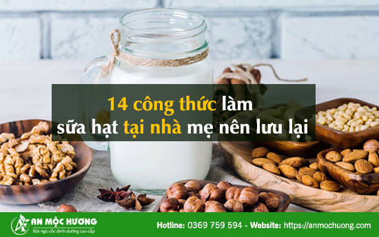 cách làm sữa hạt ngũ cốc
