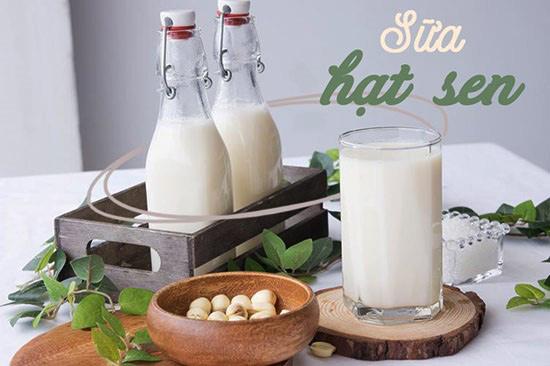 sữa hạt sen rất tốt cho bé