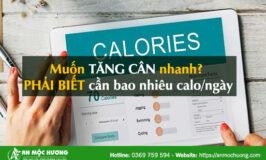 cần bao nhiêu calo để tăng cân