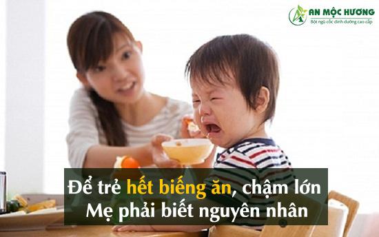 trẻ biếng ăn mẹ phải làm sao